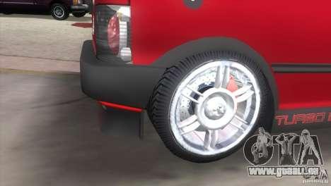 Fiat Uno Turbo für GTA Vice City zurück linke Ansicht