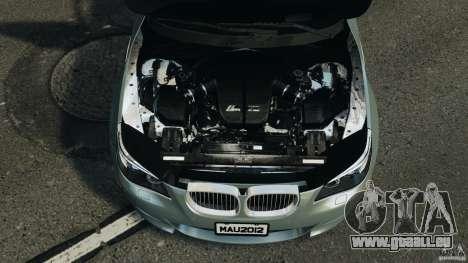BMW M5 E60 2009 v2.0 pour GTA 4 vue de dessus