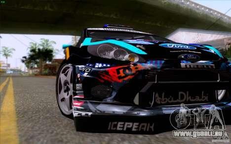 Ford Fiesta 2013 v2.0 pour GTA San Andreas vue intérieure
