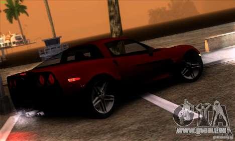 Chevrolet Corvette Z06 pour GTA San Andreas vue intérieure