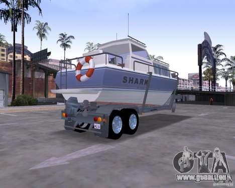 Boat Trailer pour GTA San Andreas laissé vue