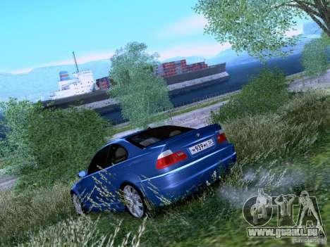 BMW M3 E46 pour GTA San Andreas sur la vue arrière gauche