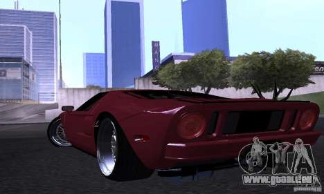 Ford GT 2005 für GTA San Andreas obere Ansicht