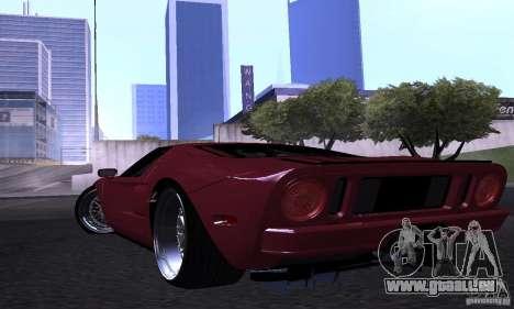 Ford GT 2005 für GTA San Andreas obere Ansicht