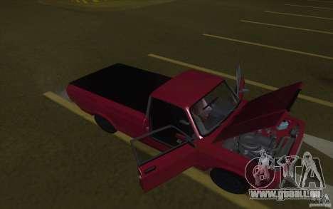 Lada 2107 Street Racing pour GTA San Andreas sur la vue arrière gauche