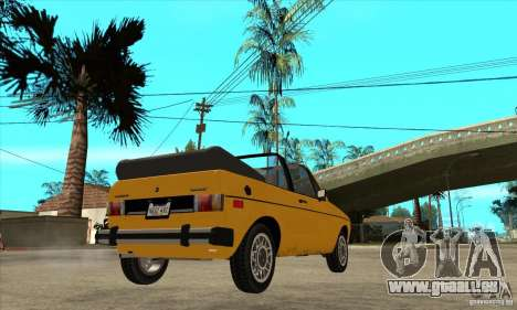 Volkswagen Rabbit Convertible pour GTA San Andreas vue de droite