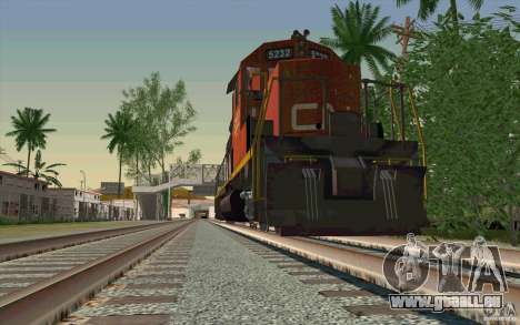 CN SD40 ZEBRA STRIPES pour GTA San Andreas vue de dessus