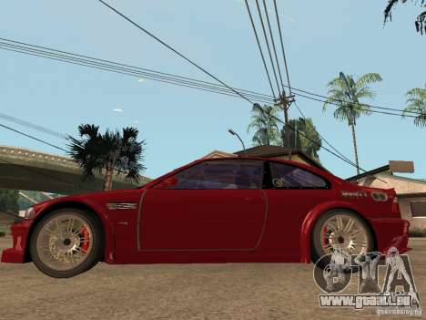 BMW M3 GTR Le Mans pour GTA San Andreas laissé vue