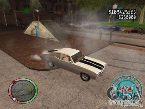 Skul Speedometer pour GTA San Andreas cinquième écran