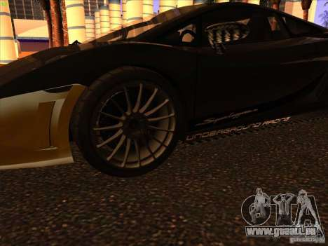 Lamborghini Gallardo Underground Racing für GTA San Andreas Rückansicht