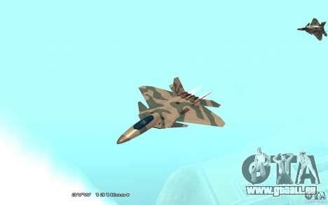 F/A-22 Velociraptor pour GTA San Andreas laissé vue