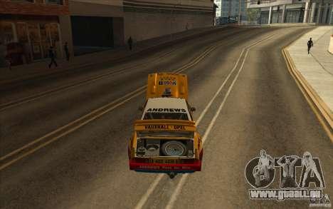 Opel Manta 400 pour GTA San Andreas vue de côté