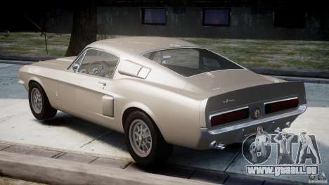 Shelby GT500 1967 pour GTA 4 Vue arrière de la gauche