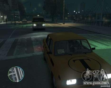 VAZ 2105 Taxi pour GTA 4 Vue arrière de la gauche