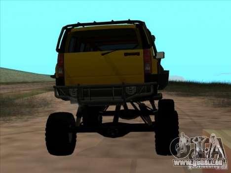 Hummer H3 Trial pour GTA San Andreas sur la vue arrière gauche