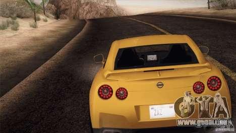 Nissan GTR Black Edition für GTA San Andreas linke Ansicht