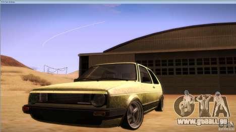 Volkswagen Golf MK II pour GTA San Andreas vue de droite