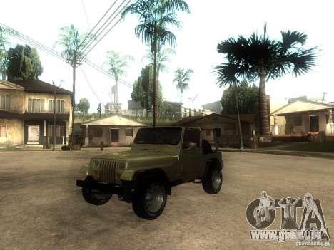 Jeep Wrangler 1986 4.0 Fury v.3.0 für GTA San Andreas