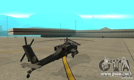 Ein-64 Apache für GTA San Andreas zurück linke Ansicht