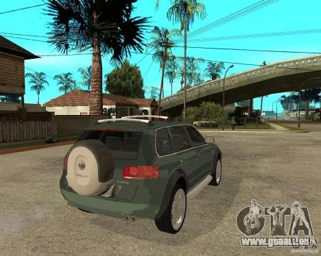 Volkswagen Touareg V10TDI 4x4 pour GTA San Andreas sur la vue arrière gauche