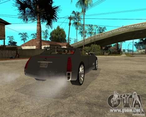 Cadillac Sixteen pour GTA San Andreas sur la vue arrière gauche