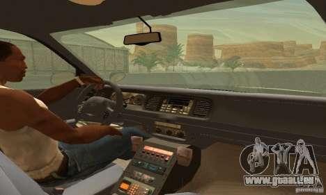 Ford Crown Victoria Rhode Island Police pour GTA San Andreas sur la vue arrière gauche