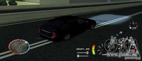 Eine einzigartige Tacho für GTA San Andreas dritten Screenshot