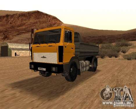 5551 MAZ LKW für GTA San Andreas Innenansicht