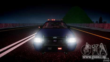 Ford Crown Victoria Homeland Security [ELS] pour GTA 4 Salon