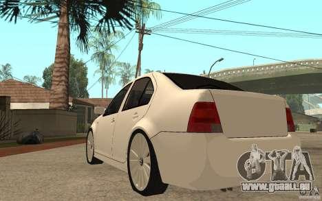 Volkswagen Bora PepeUz Edition pour GTA San Andreas sur la vue arrière gauche