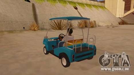 Golf kart pour GTA San Andreas sur la vue arrière gauche