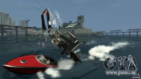 Biff boat pour GTA 4 Vue arrière