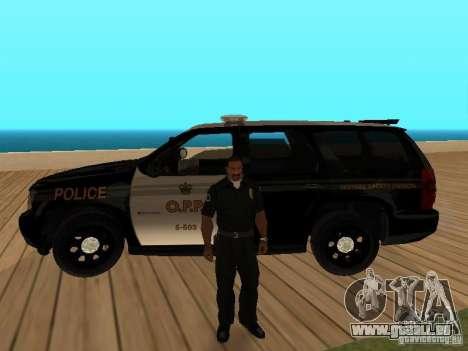Chevrolet Tahoe Ontario Highway Police für GTA San Andreas Innenansicht