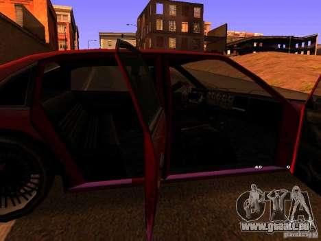 Emperor GT pour GTA San Andreas sur la vue arrière gauche