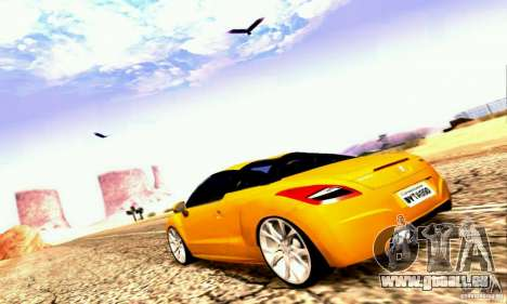 Peugeot Rcz 2011 für GTA San Andreas Unteransicht