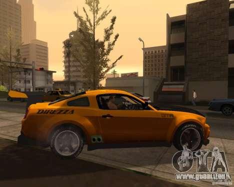 Ford Mustang GT-R 2010 pour GTA San Andreas laissé vue