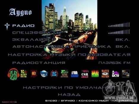 Nouveau menu dans le style de Los Angeles pour GTA San Andreas quatrième écran