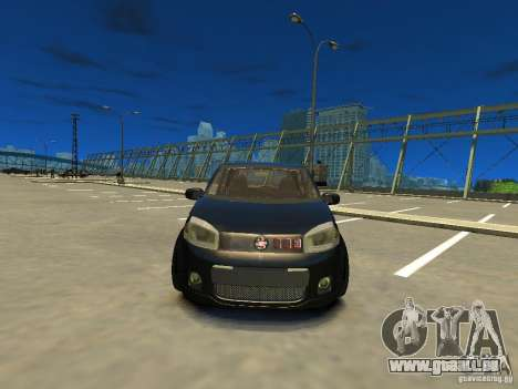 Fiat Novo Uno Sporting pour GTA 4 Vue arrière