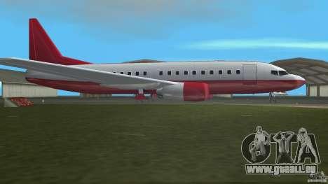 Boeing 737 für GTA Vice City linke Ansicht