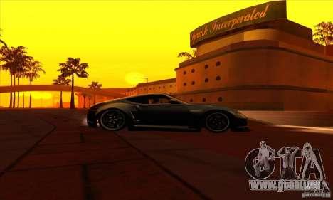 Nissan 370z Drift Edition für GTA San Andreas Rückansicht