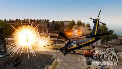 Ein Hubschrauber mit einem RPG für GTA 4 hinten links Ansicht