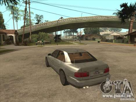 Audi A8 S-Line 2000 pour GTA San Andreas sur la vue arrière gauche