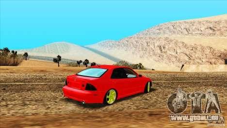 Lexus IS300 pour GTA San Andreas sur la vue arrière gauche