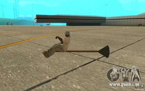 Flying Broom pour GTA San Andreas sur la vue arrière gauche