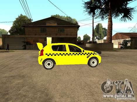 Dacia Sandero Speed Taxi pour GTA San Andreas vue de droite