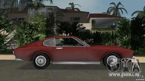 Aston Martin V8 Vantage 5.3 1969-1989 pour une vue GTA Vice City de la gauche