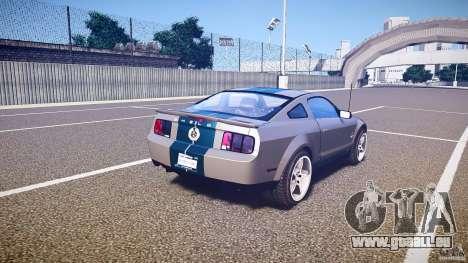 Shelby GT500kr pour GTA 4 vue de dessus