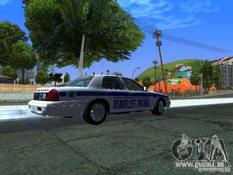 Ford Crown Victoria Police Interceptor 2008 pour GTA San Andreas sur la vue arrière gauche