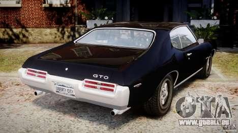 Pontiac GTO Judge pour GTA 4 Vue arrière de la gauche