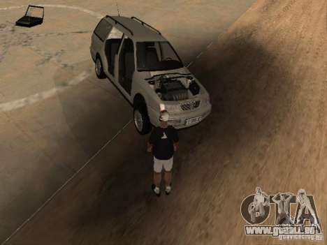 Volkswagen Passat B4 pour GTA San Andreas vue de dessous